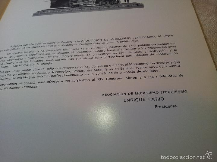 Hobbys: LIBRO LIBRETO AMF ASOCIACION DE MODELISMO FERROVIARIO BARCELONA 1967 - Foto 3 - 59174965