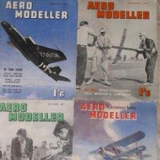 Hobbys: LOTE DE 4 REVISTAS INGLESAS AERO MODELLER DE AGOSTO, OCTUBRE, NOVIEMBRE Y DICIEMBRE 1953.. Lote 67044574