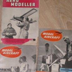 Hobbys: LOTE DE 3 REVISTAS INGLESAS DE MODEL AIRCRAFT. JUNIO, JULIO, OCTUBRE 1953.. Lote 67045394