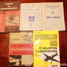 Hobbys: LOTE DE LIBROS SOBRE AEROMODELISMO RADIOCONTROL MANUAL NOCIONES AÑOS 50 60 70. Lote 75823931