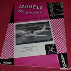 Hobbys: MODÈLE MAGAZINE - SINGULAR REVISTA AÑOS '60 PARA MODELOS REDUCIDOS - N. 197. Lote 100709775