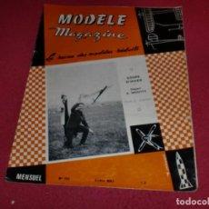 Hobbys: MODÈLE MAGAZINE - SINGULAR REVISTA AÑOS '60 PARA MODELOS REDUCIDOS - N. 195. Lote 100710123