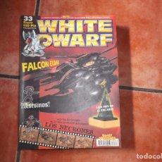 Hobbys: WHITE DWARF Nº 33. FALCON ELDAR. ASESINOS. LOS NECRONES. EL ENCARTE. RIFLE GAUSS. ASTRONAVE ULTHWÉ.. Lote 211720550