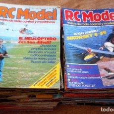 Hobbys: LOTE DE 58 REVISTAS RC MODEL REVISTA DE RADIO CONTROL Y MODELISMO - DEL AÑO 1981 AL 1989. Lote 104064359
