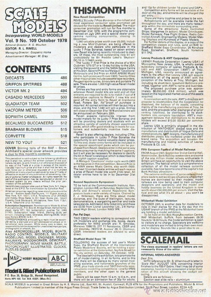 Hobbys: SCALE MODELS AÑO 1978 OCTUBRE - Foto 2 - 109329751
