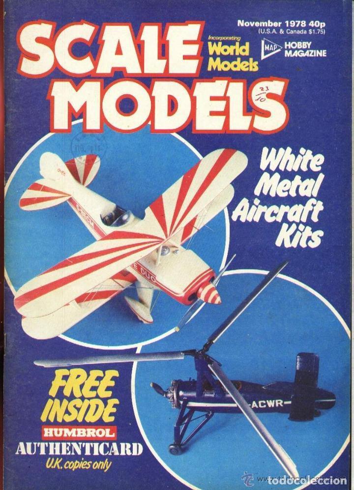 SCALE MODELS AÑO 1978 NOVIEMBRE (Modelismo y Radiocontrol - Revistas)
