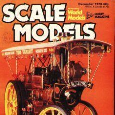 Hobbys: SCALE MODELS AÑO 1978 DICIEMBRE. Lote 109331443