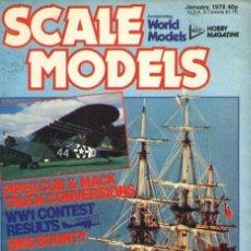 Hobbys: SCALE MODELS AÑO 1979 ENERO. Lote 109429799