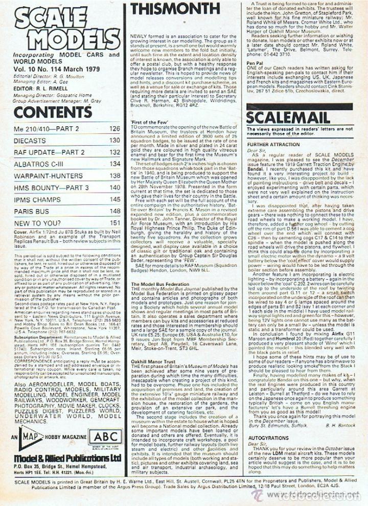 Hobbys: SCALE MODELS AÑO 1979 MARZO - Foto 2 - 109430699