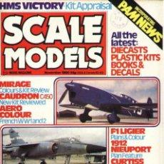 Hobbys: SCALE MODELS AÑO 1980 NOVIEMBRE. Lote 109435763