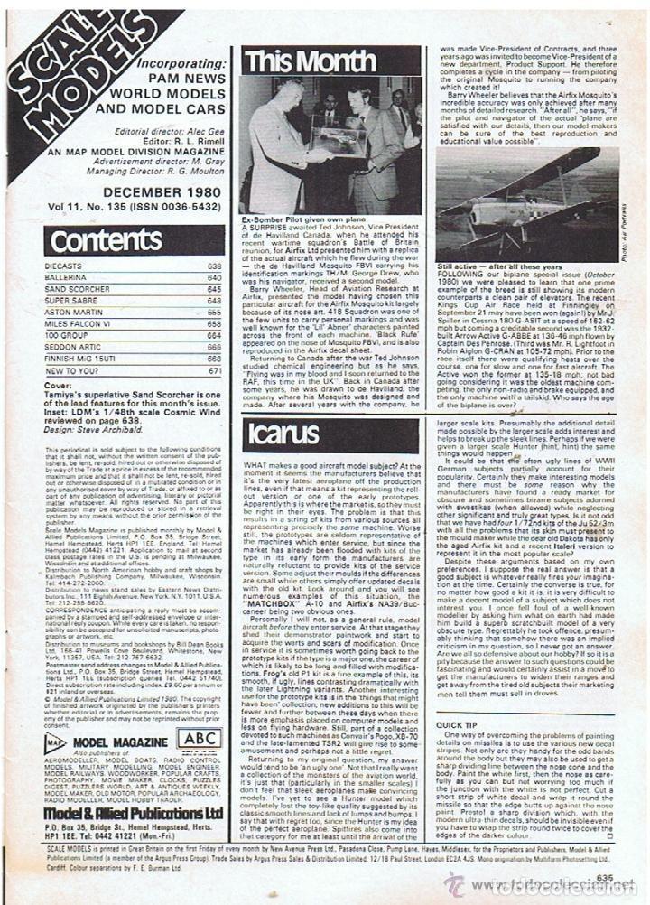 Hobbys: SCALE MODELS AÑO 1980 DICIEMBRE - Foto 2 - 109436551