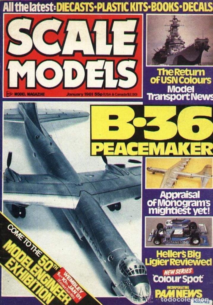 SCALE MODELS AÑO 1981 ENERO (Modelismo y Radiocontrol - Revistas)