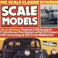 Hobbys: SCALE MODELS AÑO 1981 FEBRERO. Lote 109438251
