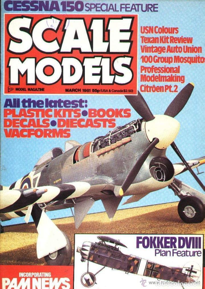 SCALE MODELS AÑO 1981 MARZO (Modelismo y Radiocontrol - Revistas)