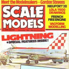 Hobbys: SCALE MODELS AÑO 1981 DICIEMBRE. Lote 109453247