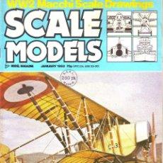 Hobbys: SCALE MODELS AÑO 1983 ENERO. Lote 109453511