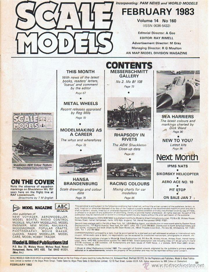 Hobbys: SCALE MODELS AÑO 1983 FEBRERO - Foto 2 - 109453751