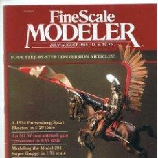 Hobbys: FINE SCALE MODELLER AÑO 1984 JULIO-AGOSTO. Lote 111469155
