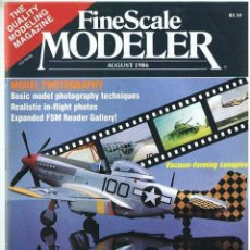 Hobbys: FINE SCALE MODELLER AÑO 1986 AGOSTO. Lote 111469947