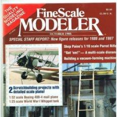 Hobbys: FINE SCALE MODELLER AÑO 1986 OCTUBRE. Lote 111470075