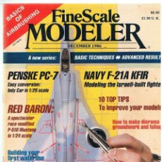 Hobbys: FINE SCALE MODELLER AÑO 1986 DICIEMBRE. Lote 111470239