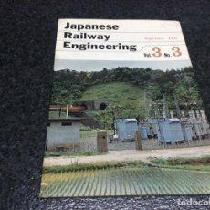 Hobbys: JAPANESE RAILWAY ENGINEERING. Lote 119302707