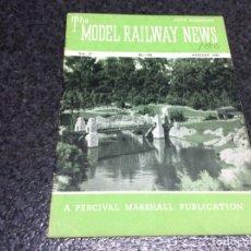 Hobbys: THE MODEL RAILWAY NEWS AUGUST 1951 - MODELISMO FERROVIARIO. Lote 119326083