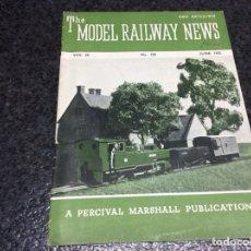 Hobbys: THE MODEL RAILWAY NEWS JUNE 1952 - MODELISMO FERROVIARIO. Lote 119326115