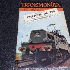 Hobbys: TRANSMONIA OCTOBRE 1956 MODELISMO FERROVIARIO. Lote 119326307