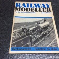 Hobbys: RAILWAY MODELLER APRIL 1976 MODELISMO FERROVIARIO. Lote 119326763