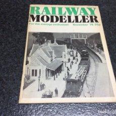 Hobbys: RAILWAY MODELLER NOVEMBER 1976 MODELISMO FERROVIARIO. Lote 119326791