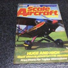Hobbys: REVISTA RADIO CONTROL SCALE AIRCRAFT AÑO 1988 - CONTIENE PLANOS ( MODELISMO ). Lote 119327707