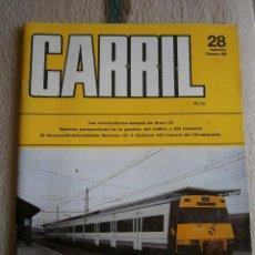 Hobbys: CARRIL, REVISTA DE FERROCARRIL, Nº 28, SEPTIEMBRE/DICIEMBRE 1989.. Lote 120310715