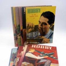 Hobbys: REVISTA HOBBY 221 A 232. AÑO COMPLETO 12 NºS, 1955. BRICOLAGE, MODELISMO. ARGENTINA. Lote 151508840