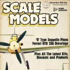 Hobbys: SCALE MODELS AÑO 1976 DICIEMBRE. Lote 130764456