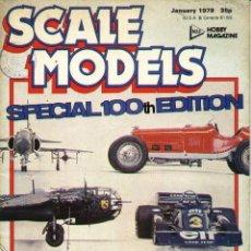 Hobbys: SCALE MODELS AÑO 1978 ENERO. Lote 130764580