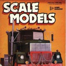 Hobbys: SCALE MODELS AÑO 1978 FEBRERO. Lote 130764656