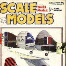 Hobbys: SCALE MODELS AÑO 1978 OCTUBRE. Lote 130766724