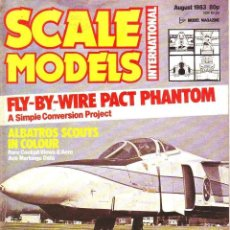 Hobbys: SCALE MODELS AÑO 1983 AGOSTO. Lote 130825376