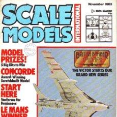 Hobbys: SCALE MODELS AÑO 1983 NOVIEMBRE. Lote 130825756