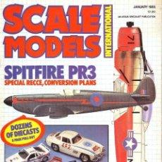 Hobbys: SCALE MODELS AÑO 1985 ENERO. Lote 130901540