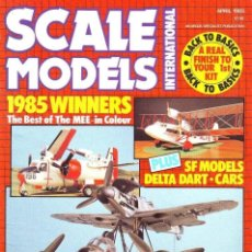 Hobbys: SCALE MODELS AÑO 1985 ABRIL. Lote 130918244