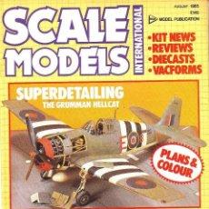 Hobbys: SCALE MODELS AÑO 1985 AGOSTO. Lote 130918884