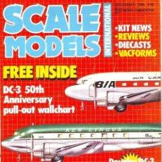 Hobbys: SCALE MODELS AÑO 1985 DICIEMBRE. Lote 130920200