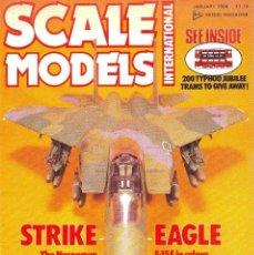 Hobbys: SCALE MODELS AÑO 1986 ENERO. Lote 130920340