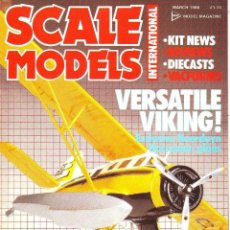Hobbys: SCALE MODELS AÑO 1986 MARZO. Lote 130946484