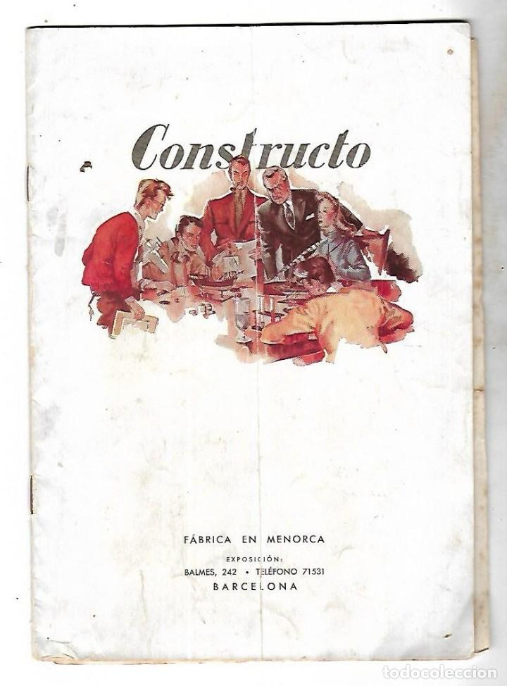 CONSTRUCTO. CATALOGO DE MINIATURA NAVAL. 1945. VER FOTOS DETALLADAMENTE (Juguetes - Modelismo y Radiocontrol - Revistas)