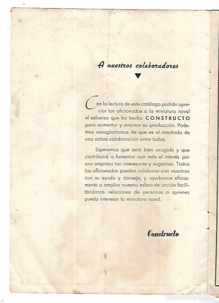 Hobbys: CONSTRUCTO. CATALOGO DE MINIATURA NAVAL. 1945. VER FOTOS DETALLADAMENTE - Foto 2 - 131477946