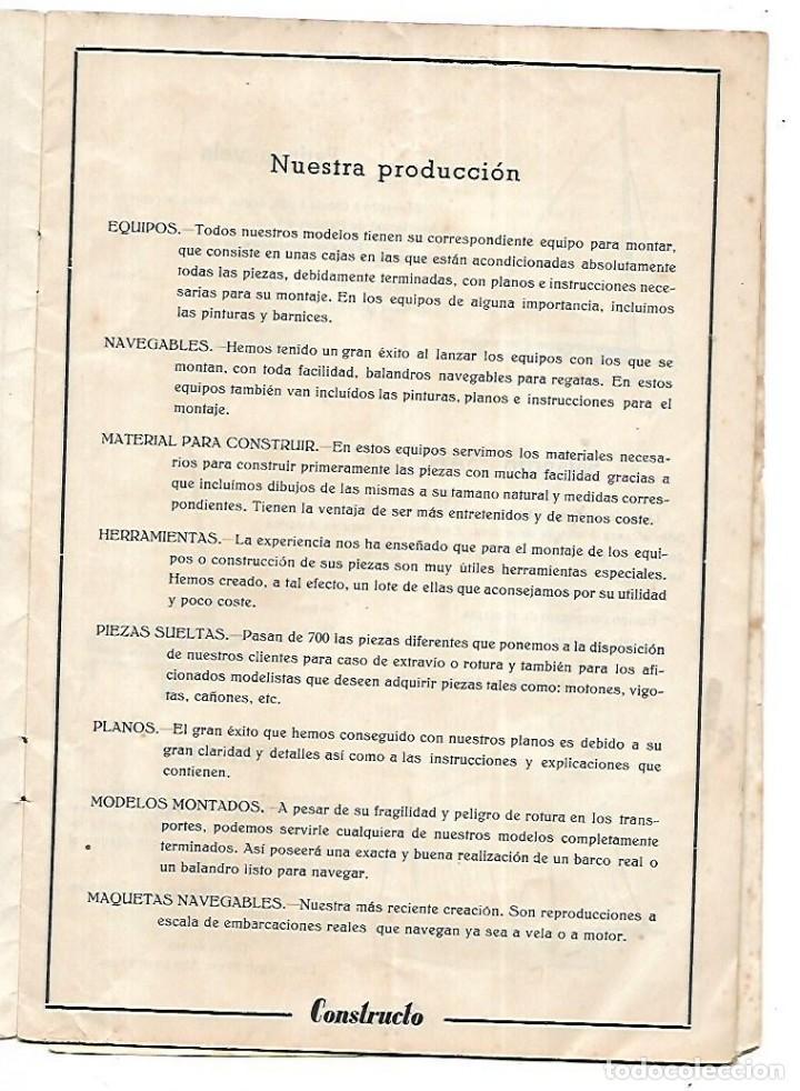 Hobbys: CONSTRUCTO. CATALOGO DE MINIATURA NAVAL. 1945. VER FOTOS DETALLADAMENTE - Foto 3 - 131477946