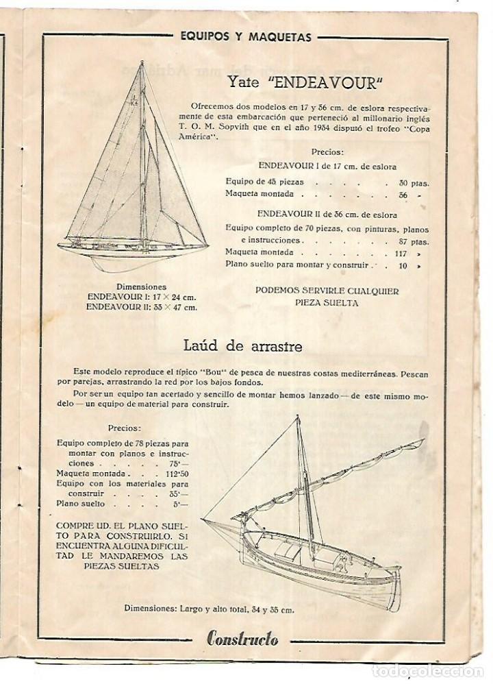 Hobbys: CONSTRUCTO. CATALOGO DE MINIATURA NAVAL. 1945. VER FOTOS DETALLADAMENTE - Foto 7 - 131477946